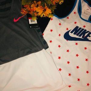 2 girl Nike tank tops NWT size large
